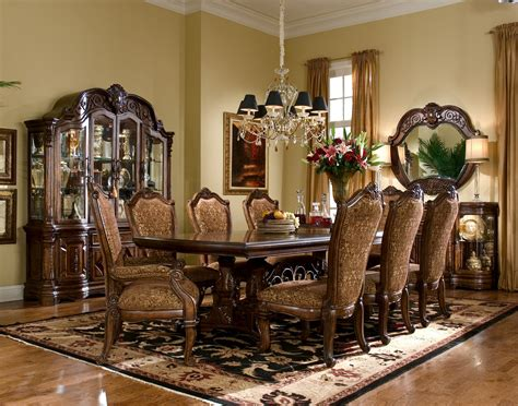 dining room settings court dining room set by aico furniture 7000