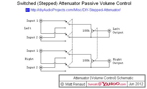 switched stepped attenuator passive volume control