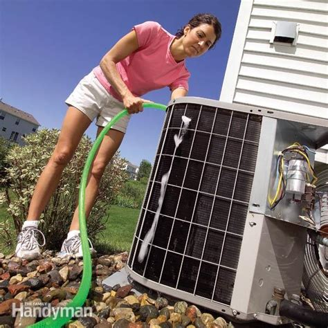 cleaning air conditioner condenser unit clean your ac condenser unit family handyman