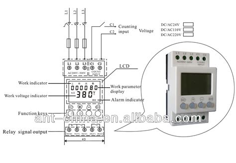 voltage and voltage protection 3 phase relay