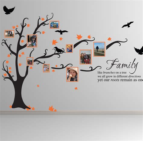 ebay tree wall stickers family tree bird wall stickers quotes decals ft1 ebay