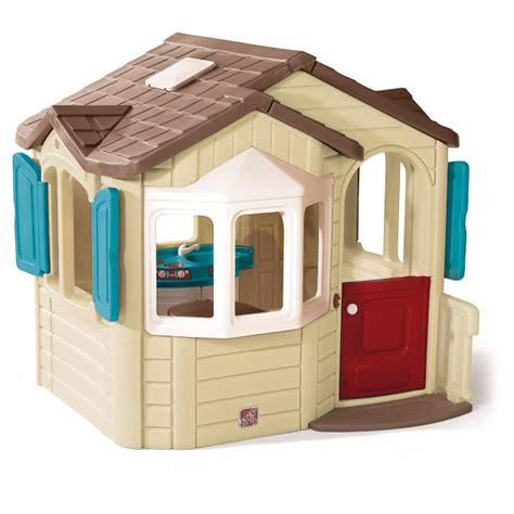 total fab outdoor playhouse with kitchen inside