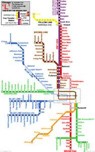 Chicago Metro Map by Chicago Subway Map Images