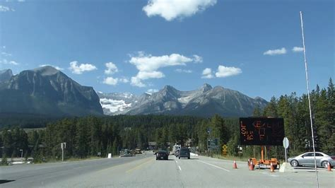 driving lake louise surronding area banff national park