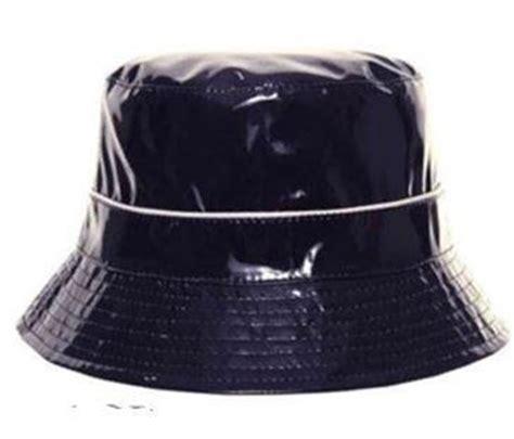 womens navy blue black patent style waterproof hats city