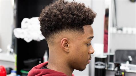 fade curly top brilliant low afro fade best simple haircut in 2017