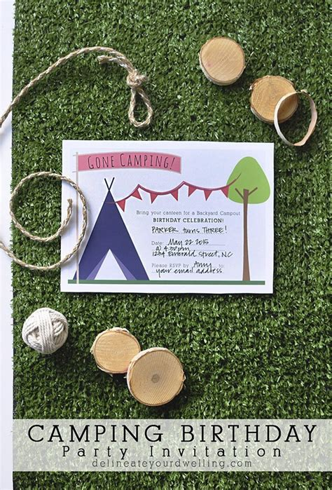 camp out invitations printable free download a free printable camping party invitation party