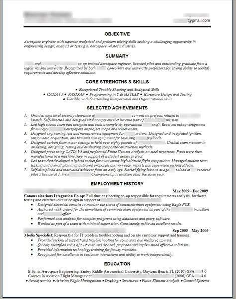 Resume Exle In Engineer Best Resume In Engineering Sales Engineering Lewesmr