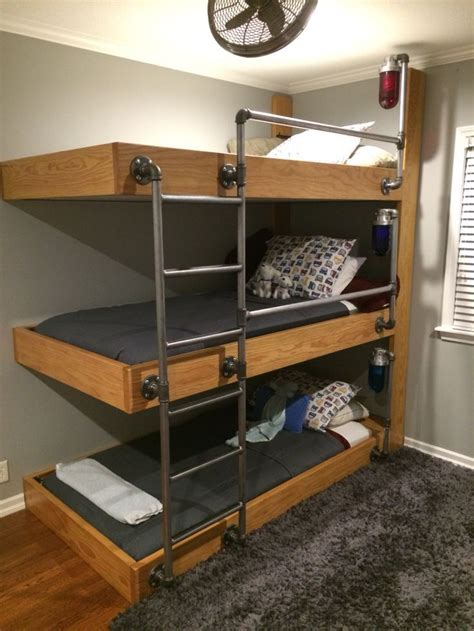 Three Bunk Bed Design The Bunk Beds My Engineer Husband Designed For Our Three Sons Who A Bedroom It