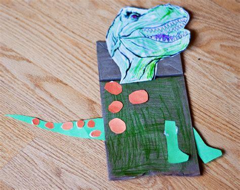 Paper Dinosaur Craft - dinosaur paper bag puppet paper bags paper
