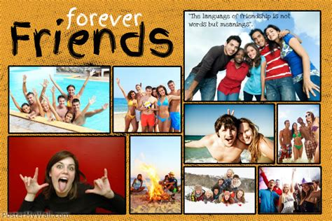 best friend collage maker friends photo collage template postermywall