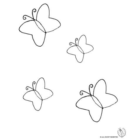 fiori e farfalle da colorare disegno di farfalle da colorare per bambini