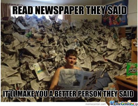 Dad Reading Newspaper Meme - newspaper memes best collection of funny newspaper pictures