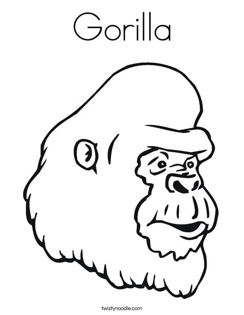 Gorilla Coloring Pages Freecoloring4u Com Gorilla Coloring Pages