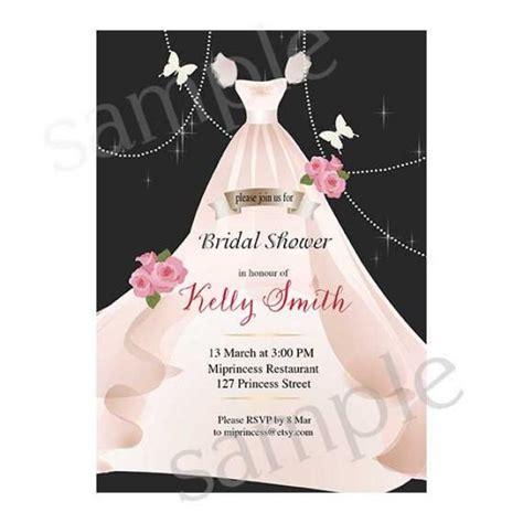 wedding gown bridal shower invitations bridal shower invitation wedding shower invitation shabby