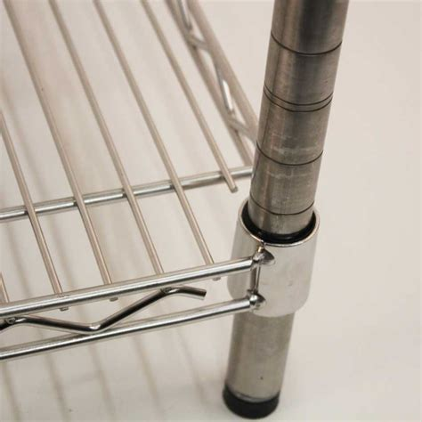 stainless steel wire shelving bays with 4 shelves 1820mm