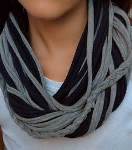 Make An Infinity Scarf Diy T Shirt Infinity Scarf Made2style