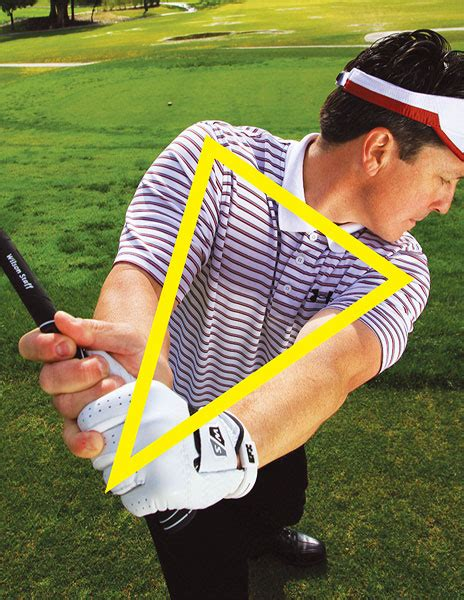 triangle golf swing drive time golf tips magazine