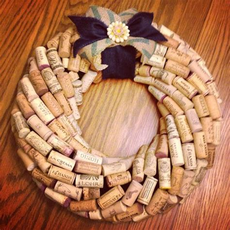 wine cork wreath traditional etsy store and