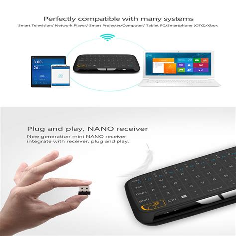 Air Mouse Wireless Keyboard 2 4ghz alphun air mouse touchpad keyboard wireless 2 4ghz h18