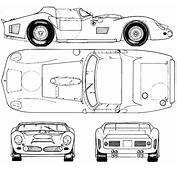 Ferrari 330 P LM Blueprint  Racing Car