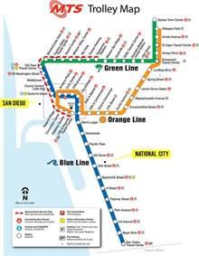 San Diego Trolley Map by San Diego Transit Map