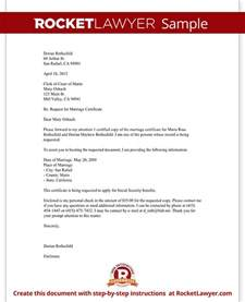 Letter Of Certification Template by Marriage Certificate Request Letter Template With Sle