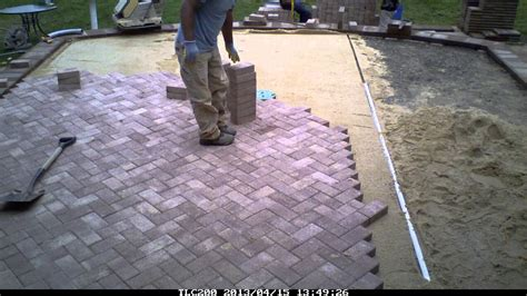 Patio Paver Installation by Time Lapse Patio Paver Installation