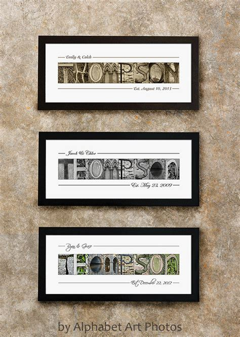 personalized last name wall decor last name sign home decor alphabet photo letter wall