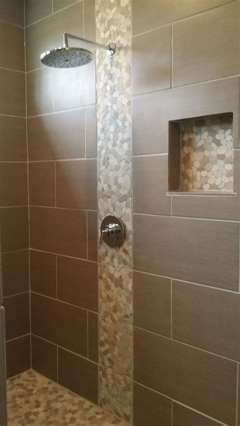 White Pebble Tiles Bathroom by Sliced Java And White Pebble Tile White Pebbles