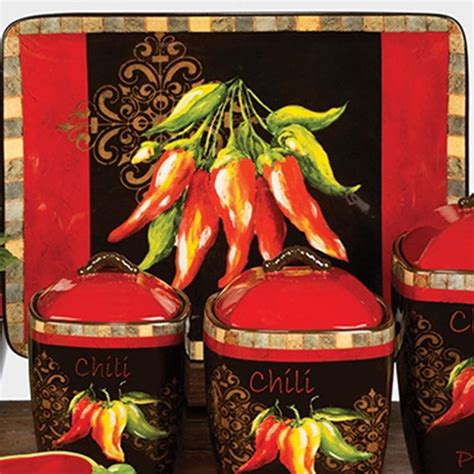 chili pepper home decor chili pepper decor chili pepper by tre sorelle studios certified international kitchen