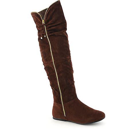 dollhouse boots dollhouse envy womens flat thigh high boot