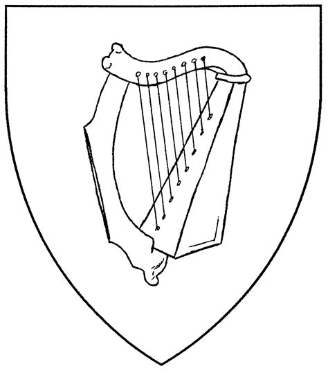 ireland harp symbol coloring page coloring pages