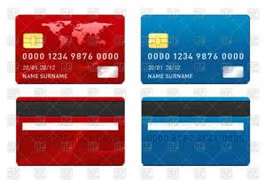 credit card front and back side vector image 74746 rfclipart