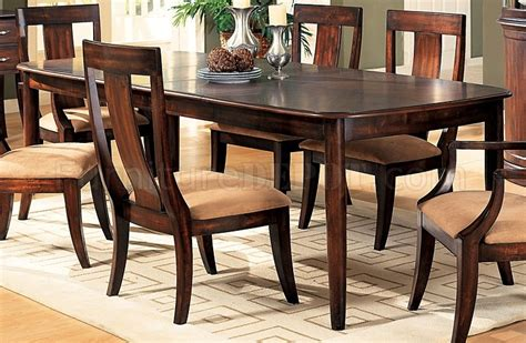 distressed cherry formal dining room set w microfiber seats distressed cherry formal dining room set w microfiber seats