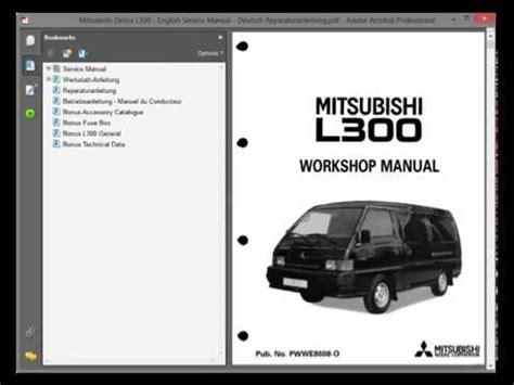 Mitsubishi Delica L300 English Service Manual Deutsch
