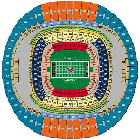saints superdome seating map nfl football stadiums new orleans saints stadium