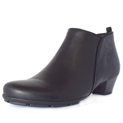 gabor ankle boots trudy black leather ankle boots