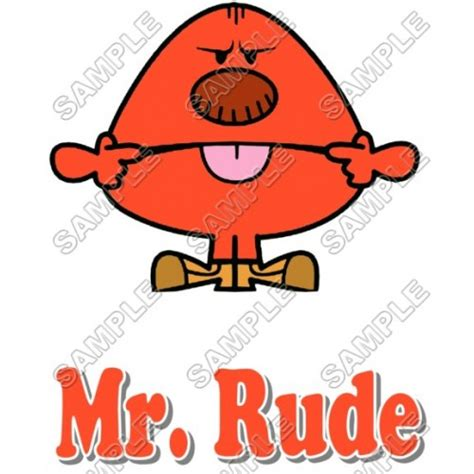 Mr Rude mr and miss mr rude t shirt iron on transfer