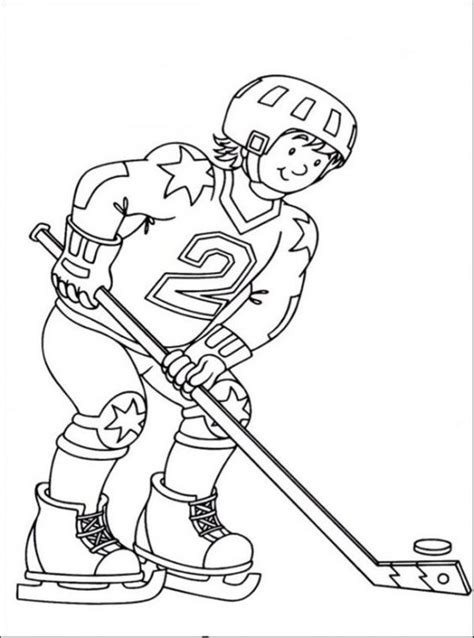 simple hockey coloring pages free hockey coloring pages sport coloring pages of