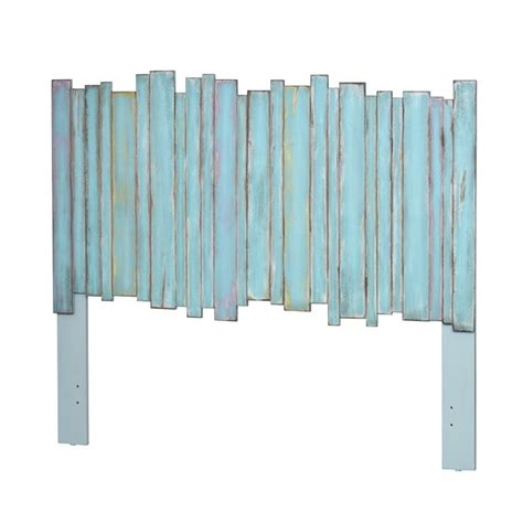picket fence headboard distressed blue sea winds trading