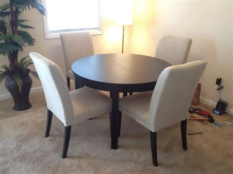 Dining Room Table And Chairs Ikea by Ikea Bjursta Dining Table And 4 Henriksdal Chairs Dining