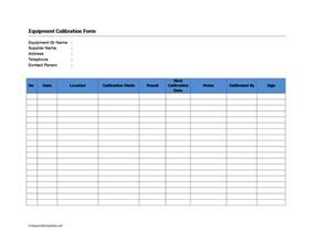 Pressure Calibration Certificate Template by Equipment Calibration Form Freewordtemplates Net