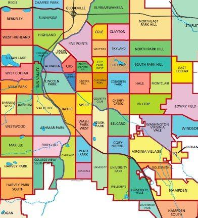 colorado springs subdivisions map denver neighborhoods repinned by an s touch llc