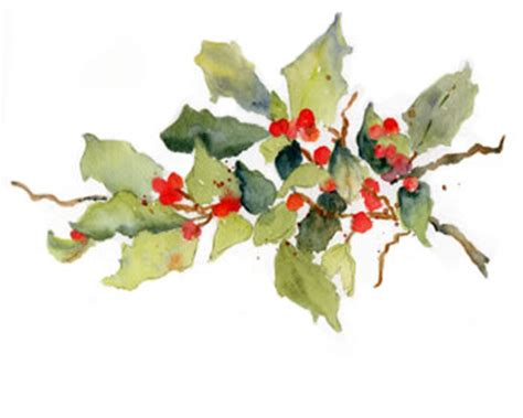 watercolor holly tutorial holly berries in watercolor kristtj 248 rn jul christmas