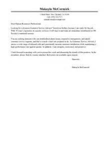 Customer Service Consultant Cover Letter by Cover Letter For Customer Service Consultant Resume Insurancequotestrader