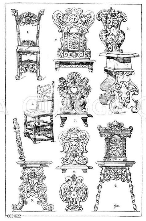 ornamente st 252 hle - Stuhl 17 Jahrhundert
