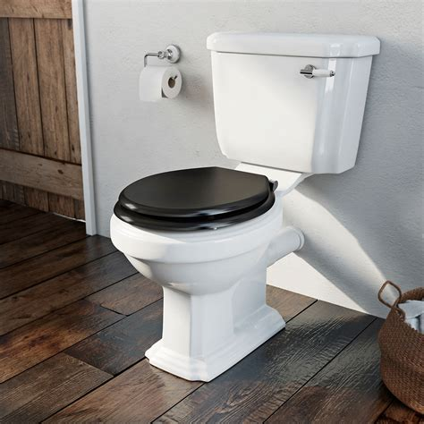black bathroom toilet dulwich close coupled toilet with black wooden toilet seat