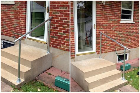 Handrails For Steps Outdoors easy to install outdoor stair railing