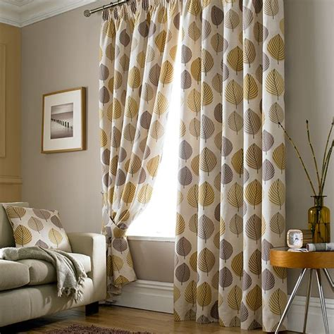 retro living room curtains ochre regan collection lined pencil pleat curtains living room back to chic
